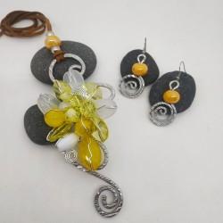Parure Wire resina giallo
