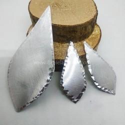 Coppia Basi orecchini Alluminio Goccia Media