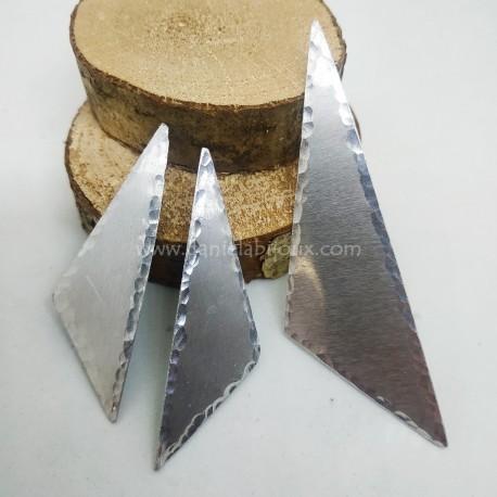 Base Ciondolo Alluminio Triangolo