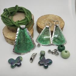 Orecchini alluminio dipinto campana verde
