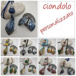 Ciondolo Dipinto e ceramica personalizzato