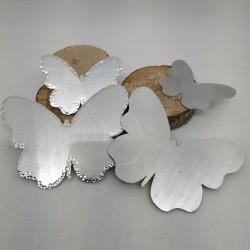 Alluminio Farfalla Contorno Battuto