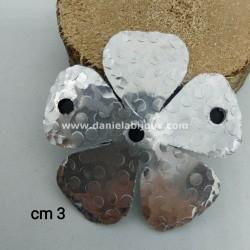 Alluminio Fiore Contorno Battuto 3 fori