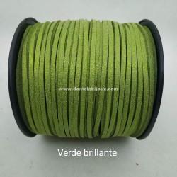 Filo Alcantara Verde Brillante