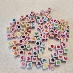 Cuori Cubetto plastica - 50 pezzi