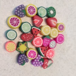 Frutta fimo - 25 pezzi